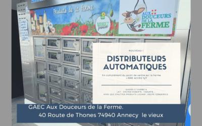 Distributeur automatique des produits de la ferme à quelques minutes du PAE!
